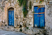 Two Blue Doors in Argiroupolis